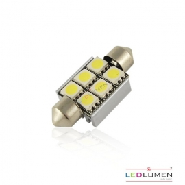 Żarówka LED FESTOON LIGHT 36mm 6SMD 5050 LEDLUMEN