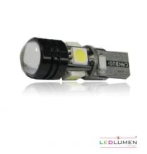 Żarówka LED T10 4SMD 5050 + HP LED 1.5W