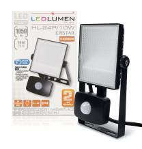 Naświetlacz LED z czujnikiem HL-24P/10W 15x2835 LED IP44 biała neutralna