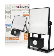 Naświetlacz LED z czujnikiem HL-25P/20W 30x2835 LED IP44 biała neutralna