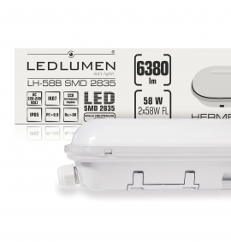 Oprawa hermetyczna LED LH-58B 58W 6380lm 1200mm IP65 CCD NW