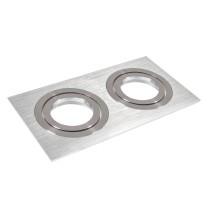Oprawa sufitowa GU10 aluminium podwójna DLA-07/2 AL