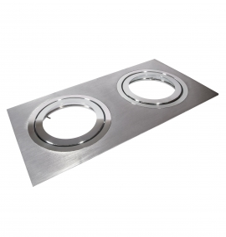 Oprawa sufitowa AR111 aluminium podwójna DLA-10/2 AL