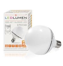 Żarówka LED G95-AP E27 230V 11.5W 14pcs 2835 CCD WW