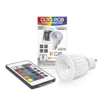 Żarówka LED GU10-RGB 230V 3.5W HIGH POWER LED RGB