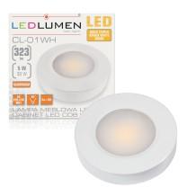 Lampa meblowa LED CL-01 5W 230V 323lm WHITE biała ciepła