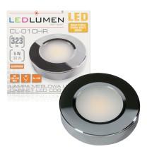Lampa meblowa LED CL-01 5W 230V 323lm CHROME biała ciepła
