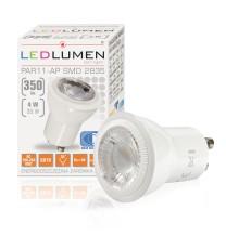 Żarówka LED PAR11-AP GU10 230V 4W LED 35 st. CCD biała neutralna