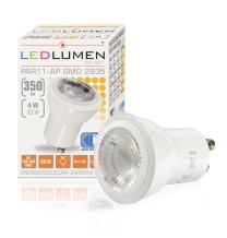 Żarówka LED PAR11-AP GU10 230V 4W LED 35 st. CCD biała ciepła