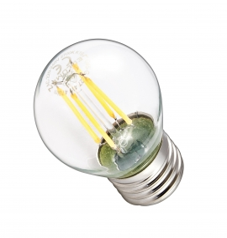 Żarówka LED G45-G E27 230V 4W FILAMENT 470lm WW