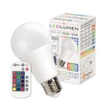 Żarówka LED A60-AP E27 10W LED CCD RGB+WW