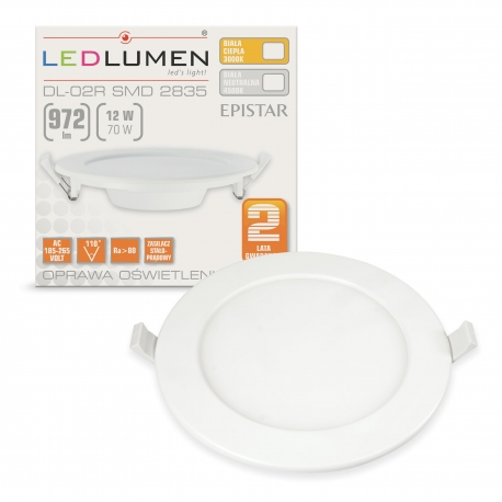 DL-02R 12W 60x2835 LED WW